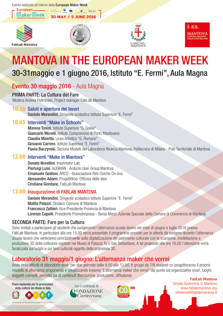 Locandina Mantova in the European Maker Week